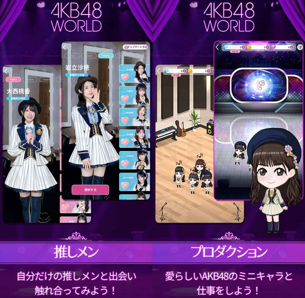 AKB48 WORLD 『プロダクション』、推しメン紹介イメージ