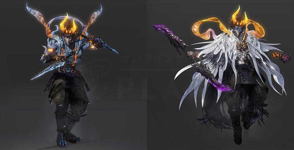仁王2 Complete Edition 『迅』と『幻』の守護霊を宿して『妖怪化』した姿スクリーンショット