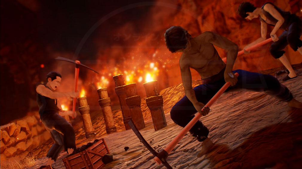 Tales of ARISE(テイルズ オブ アライズ) ダナ人達が苦役を強いられている『オルブス・カラグリア』スクリーンショット