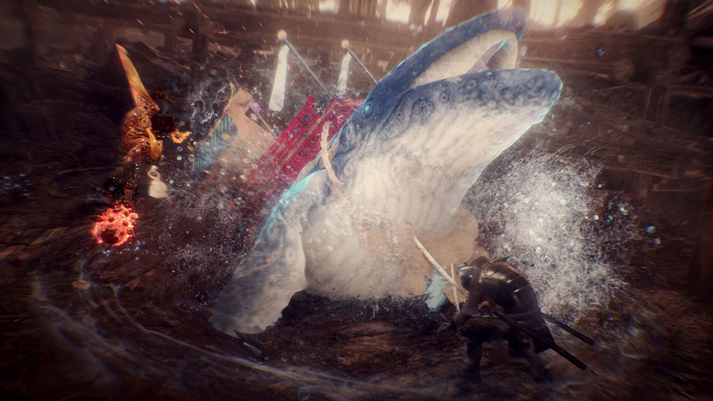 仁王2 Complete Edition クジラの姿の守護霊『勇魚神(いさながみ)』の守護霊技スクリーンショット
