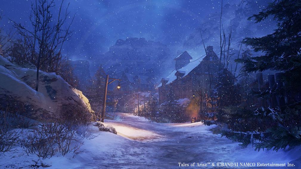 Tales of ARISE(テイルズ オブ アライズ) 雪が絶えず降りしきるエリア『シスロディア』スクリーンショット
