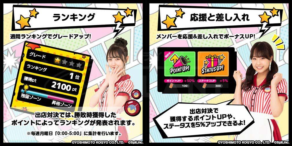 NMB48公式 君と私の恋のたこパ KOITAKO(恋たこ) 『ランキング』、『応援と差し入れ』紹介イメージ