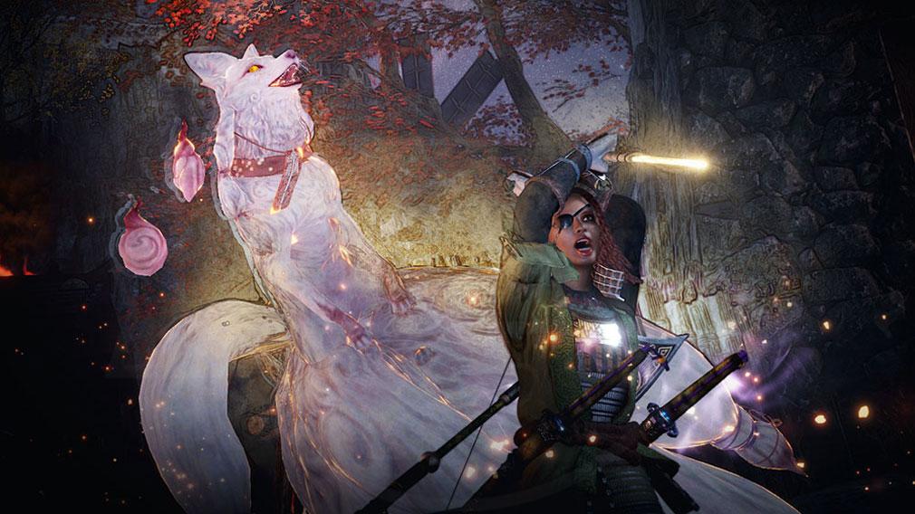 仁王2 Complete Edition 守護霊『九尾』の技を繰り出すスクリーンショット