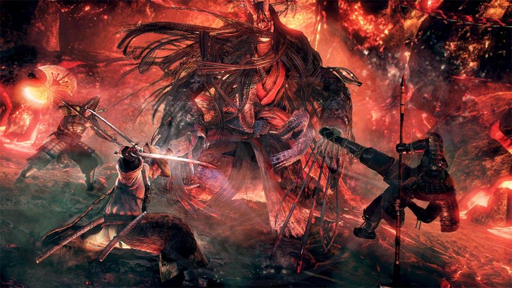仁王 Complete Edition 他プレイヤーと協力してボスと戦うスクリーンショット