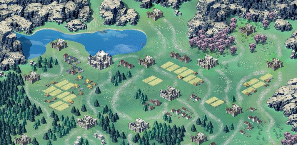 エバーテイル 『王都争奪戦』の戦場マップスクリーンショット