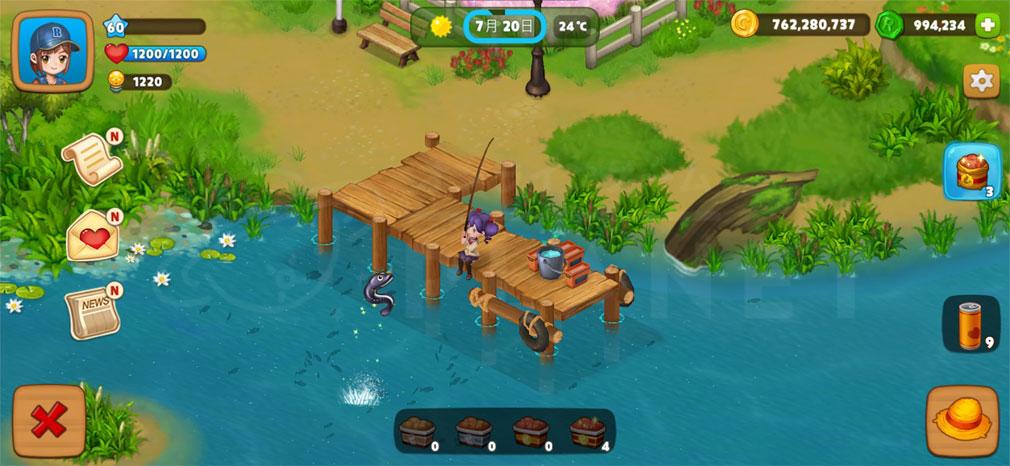 リアルファーム 『釣り場』スクリーンショット