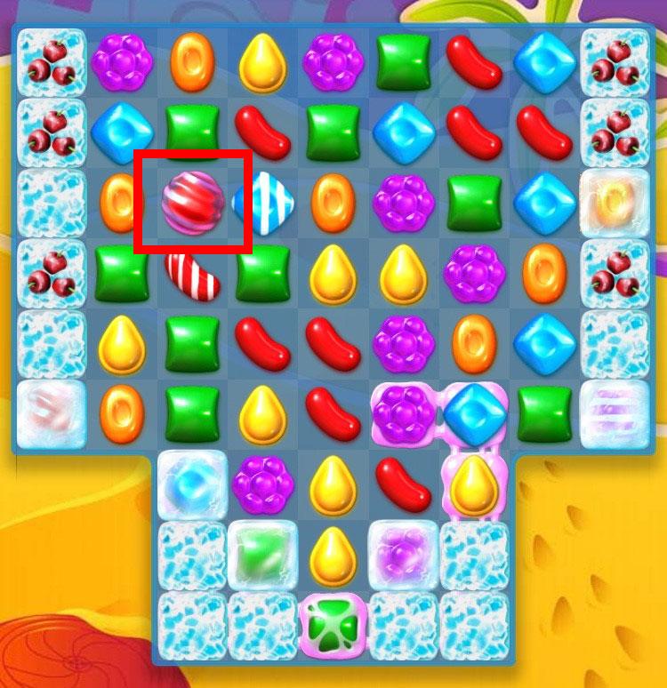 キャンディークラッシュソーダ 新登場の『カラーリングキャンディー』は同色キャンディーを6つ繋げると作り出せる