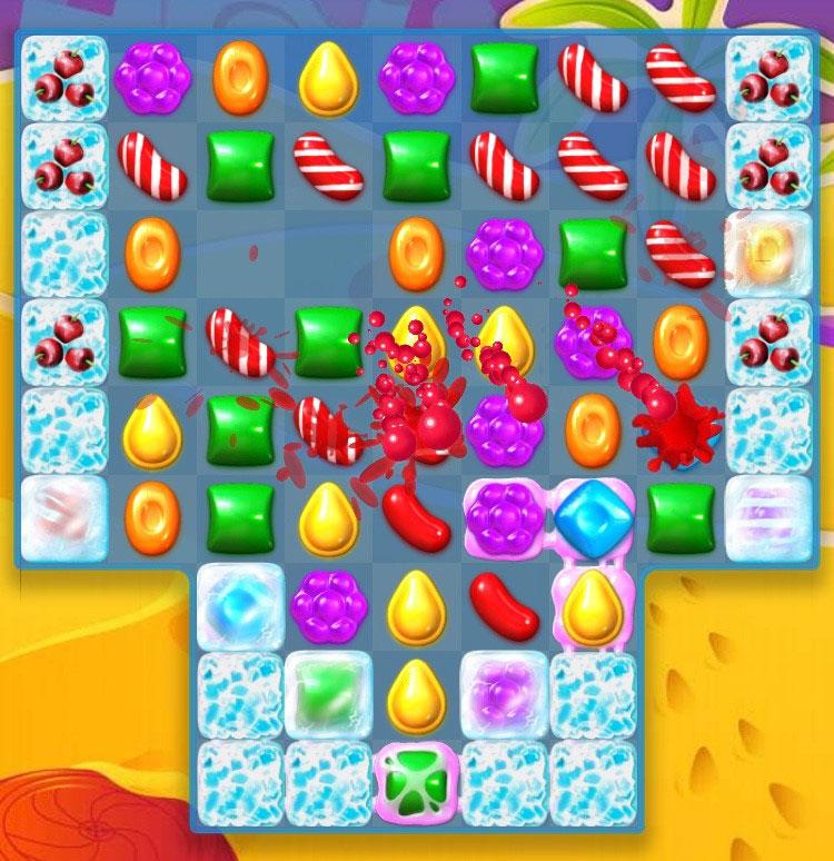 キャンディークラッシュソーダ 『カラーリングキャンディー』は大連鎖を狙える貴重なキャンディー