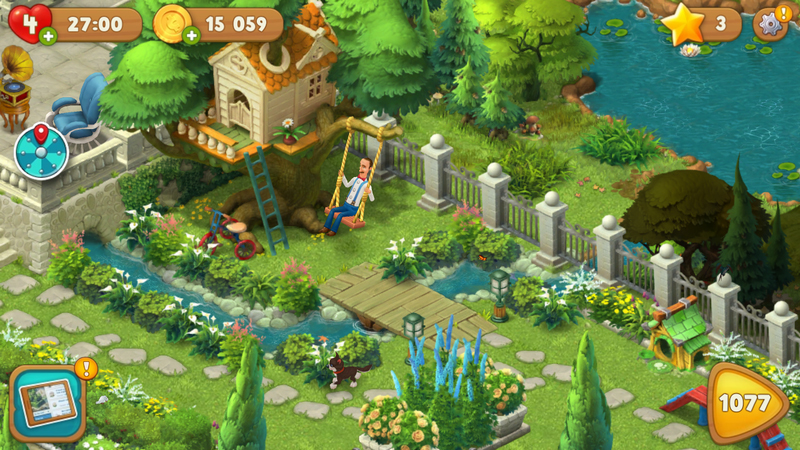 ガーデンスケイプ (Gardenscapes) ツリーハウスなども設置されています