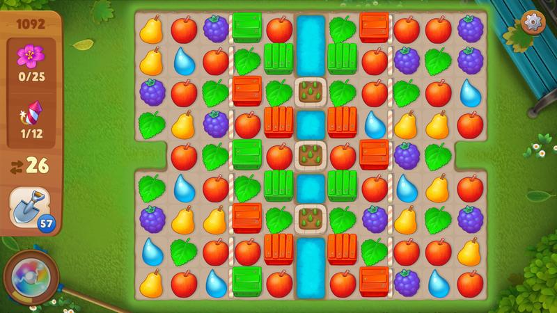 ガーデンスケイプ (Gardenscapes) 王道のマッチ3パズルシステム