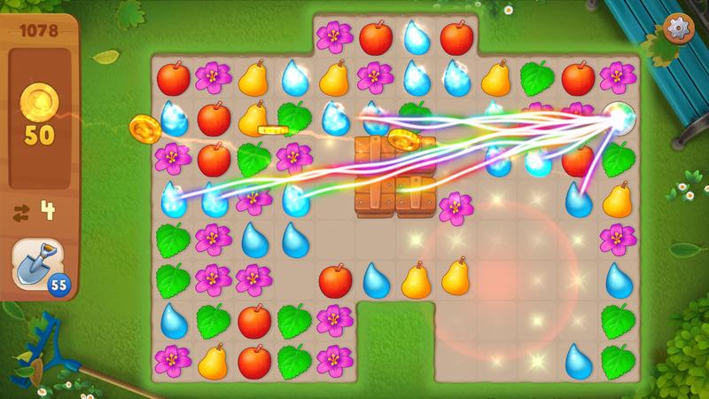 ガーデンスケイプ (Gardenscapes) ゲームを効率良く進めるための便利アイテムも用意