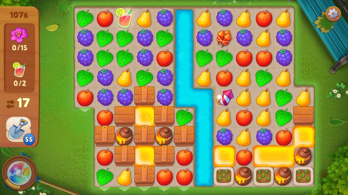 ガーデンスケイプ (Gardenscapes) 何度もチャレンジすれば確実にクリアできるパズルゲーム