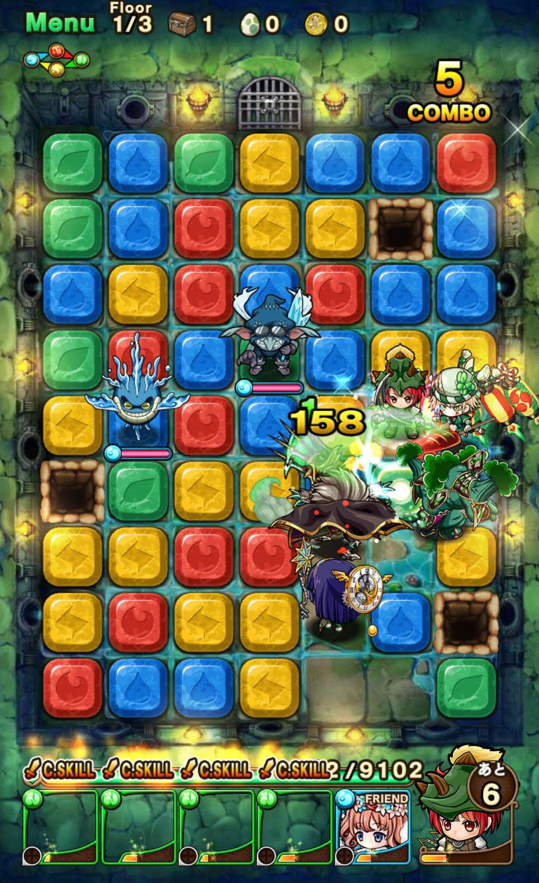 ポコロンダンジョンズ(ポコダン) 独自のゲームシステムが魅力のパズルゲーム