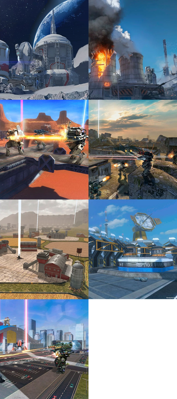 War Robots(WR) 特徴のある7種類のフィールドマップ