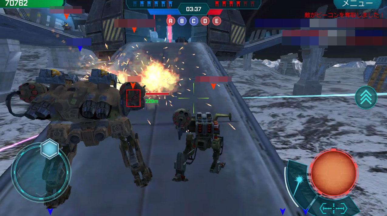 War Robots(WR) 戦闘終了後は破壊されたロボット・武器は全回復