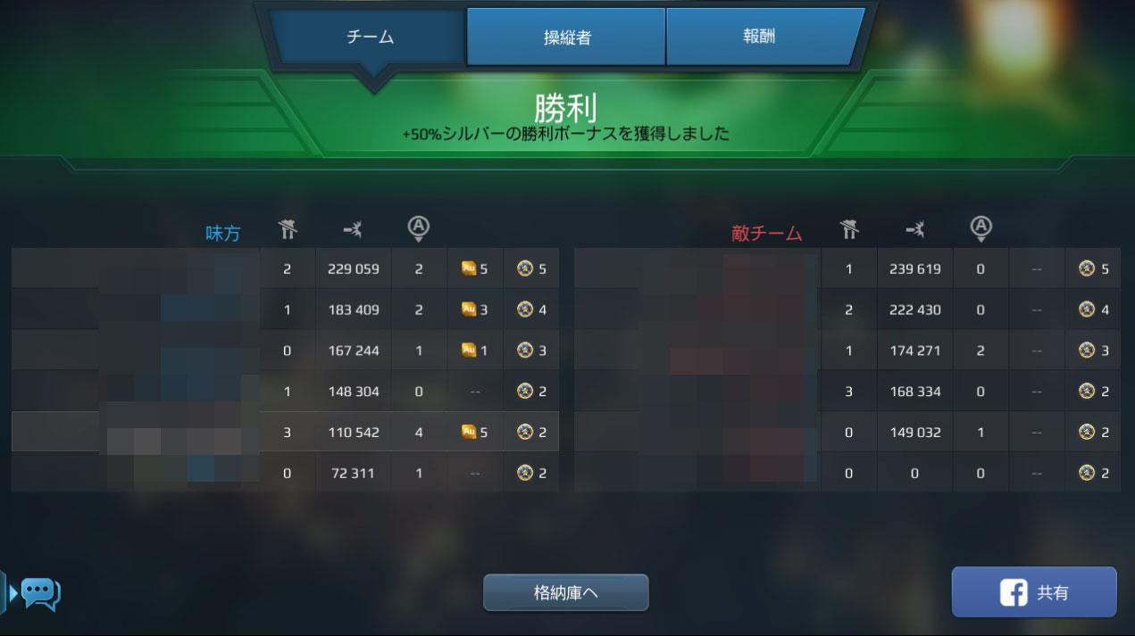 War Robots(WR) ランキングやチームバトルも用意されている