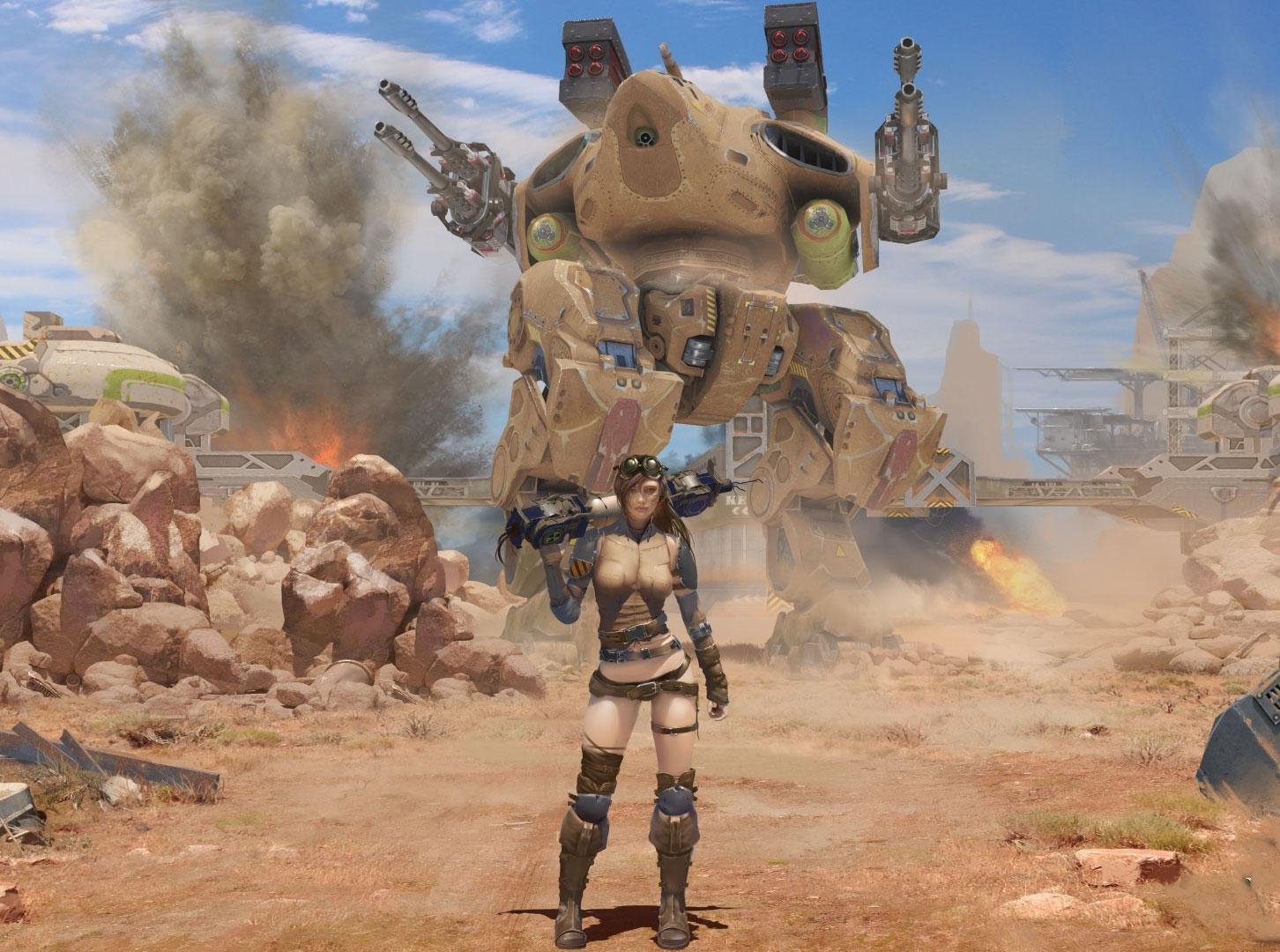 War Robots(WR) スマホアプリとは思えない大迫力の高グラフィックやBGMは見ているだけでもカッコいい